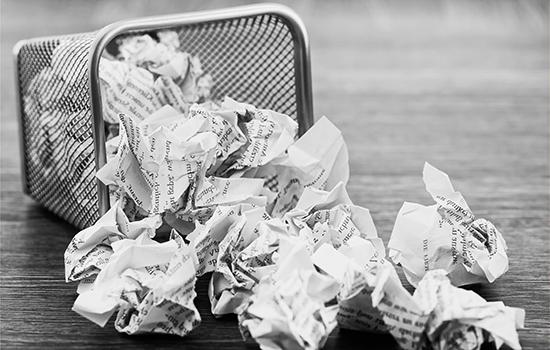 paper waste bin