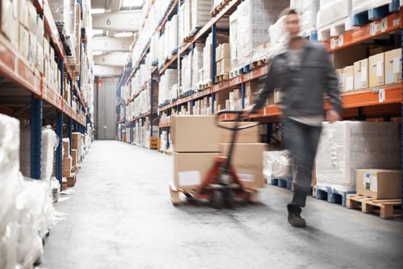warehouse receiving worker